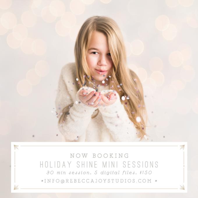 Rebecca Joy Studios   Holiday Mini Photo sessions   Victoria BC