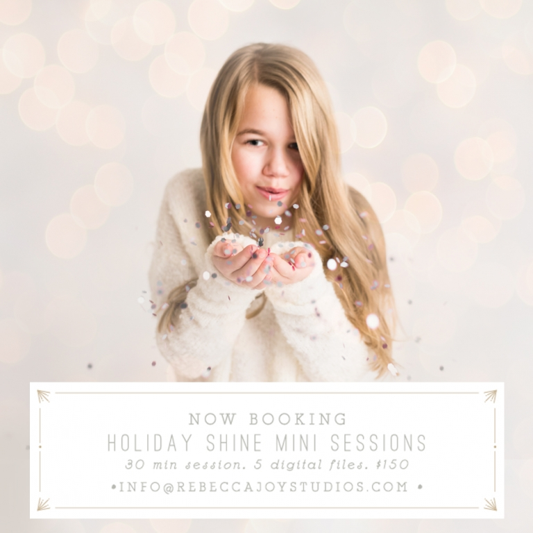 Rebecca Joy Studios | Holiday Mini Photo sessions | Victoria BC